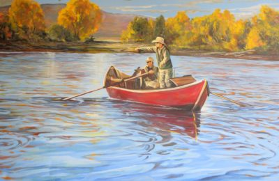 fly fishing painting retreat